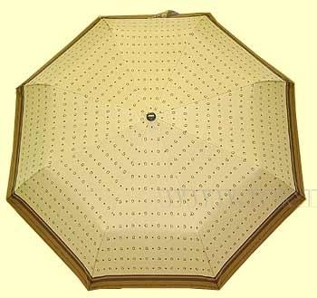 Зонт 23 цв., полный автомат, Гуччи бежевый с коричневым кантом оптом