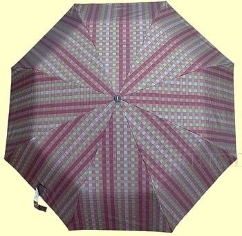 Зонт 23 цв., полный автомат, клетка мелкая разноцветная оптом