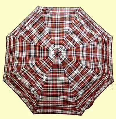 Зонт 23 цв., полный автомат, клетка красно-белая оптом
