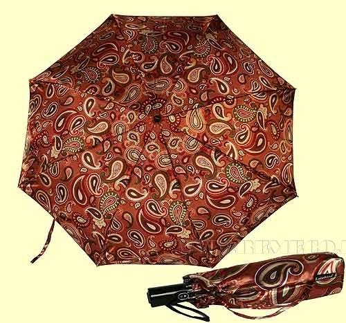 Зонт 23, полный автомат, атласный (розовые восточные огурцы) оптом