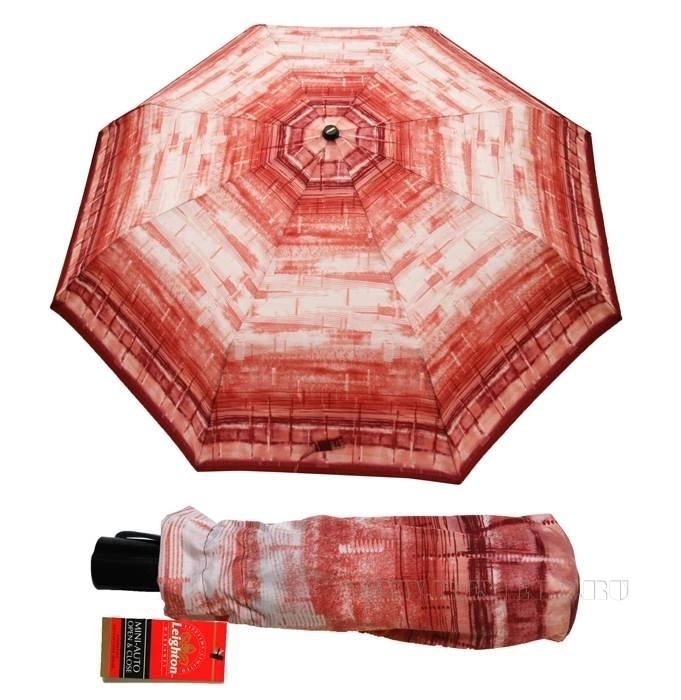 Зонт 23, полный автомат (Бордовая абстракция) оптом