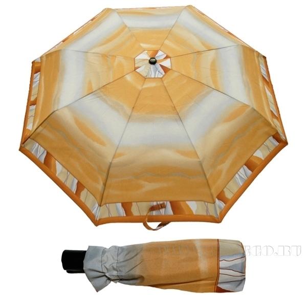 Зонт 23, полный автомат (Бежевая абстракция) оптом