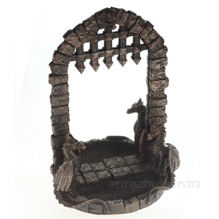 Зеркало Драконы, H 35 см оптом