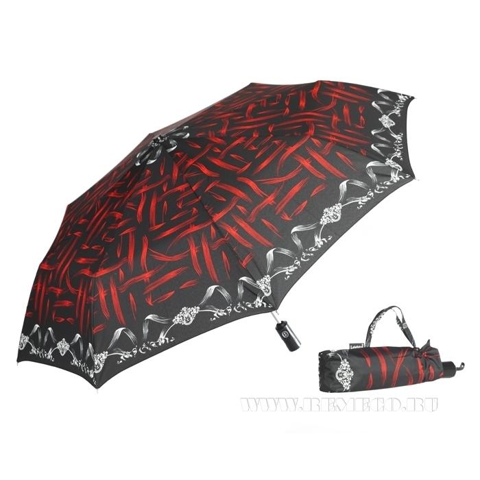 Зонт 23, полный автомат (Красно-черная абстракция) оптом