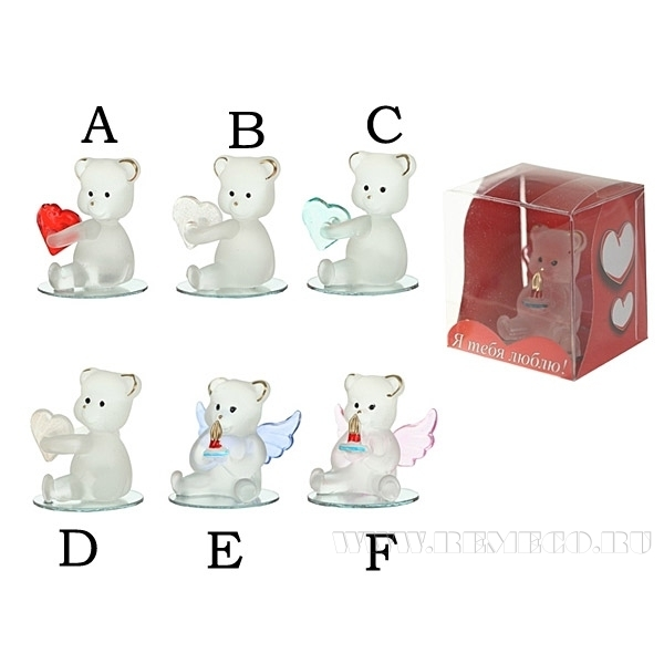 Фигурка декоративная Мишка, L4 W4 H5 см, 6 в. оптом