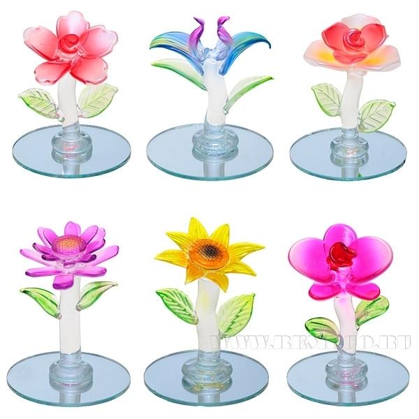 Фигурка декоративная Цветок, L4 W4 H4 см, 6 в. оптом