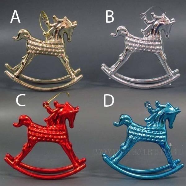 Новогоднее украшение Лошадь, Н 10 см, 4 в. оптом