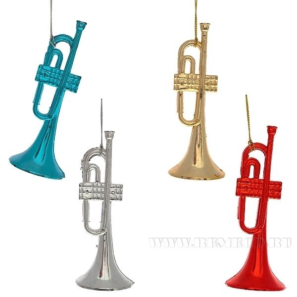 Новогоднее украшение Труба, L12 W5 H5 см, 4 в. оптом