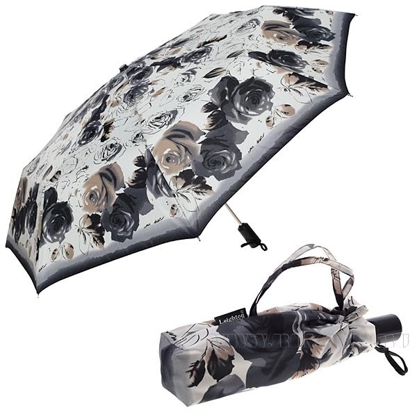Зонт 23, полный автомат (Черно-белые розы) оптом