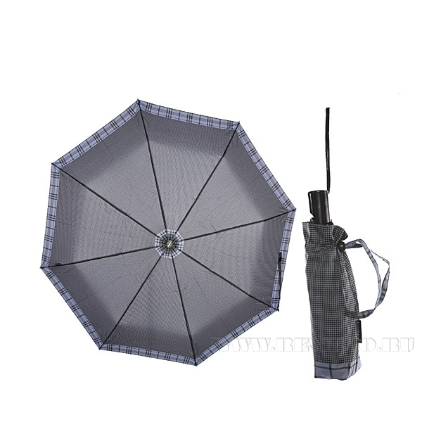 Зонт 23, полный автомат (Сиреневая клетка) оптом
