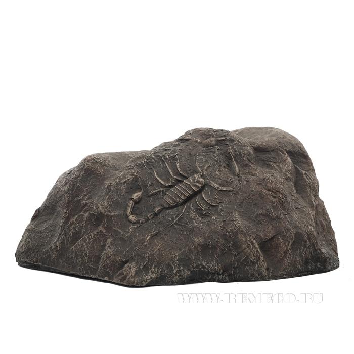 Камень декоративный со скорпионом, L 36 H17 см оптом