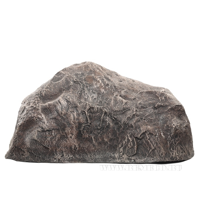 Камень декоративный с динозавром, L 36 H14 W28 см оптом