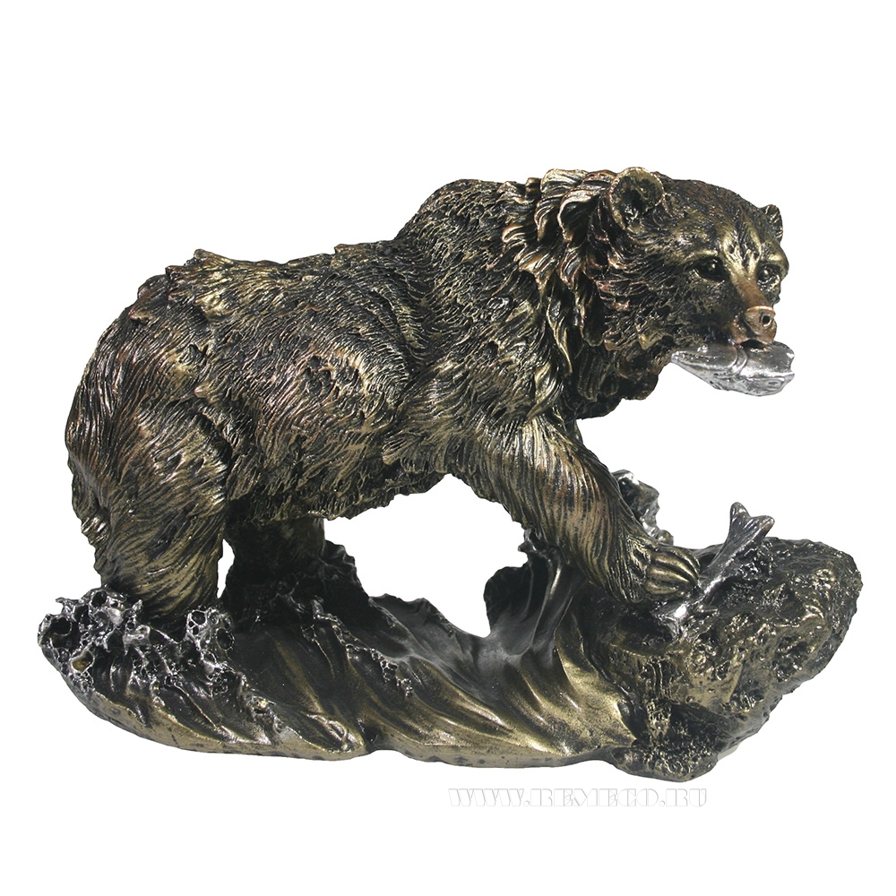Фигурка декоративная Медведь (цвет бронза), L26W11H16см оптом