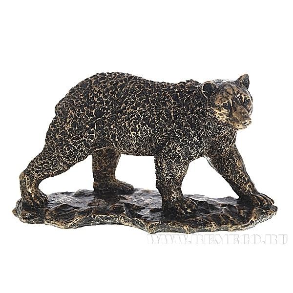 Фигурка декоративная Медведь(цвет бронза), L26W11H15см оптом