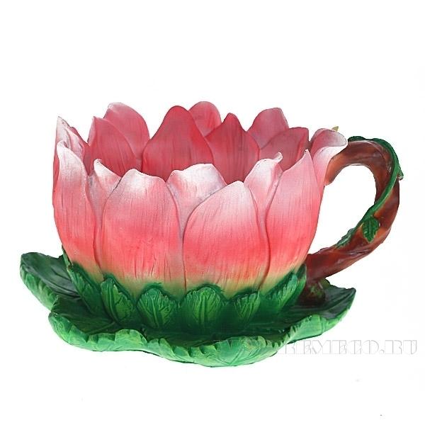 Кашпо декоративное Цветочная чаша 2в, H13 D19 см оптом