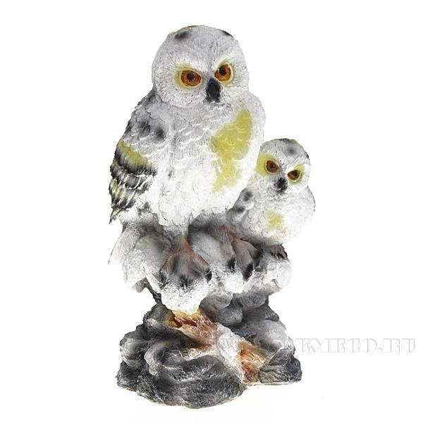 Изделие декоративное Две полярные совы, L22.5 W18.5 H38.5 см оптом