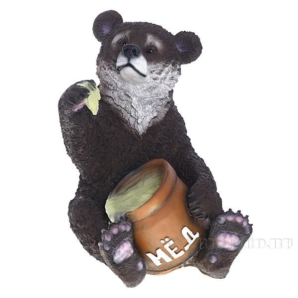 Изделие декоративное Медведь с медом, L32 W44 H50.5 см оптом