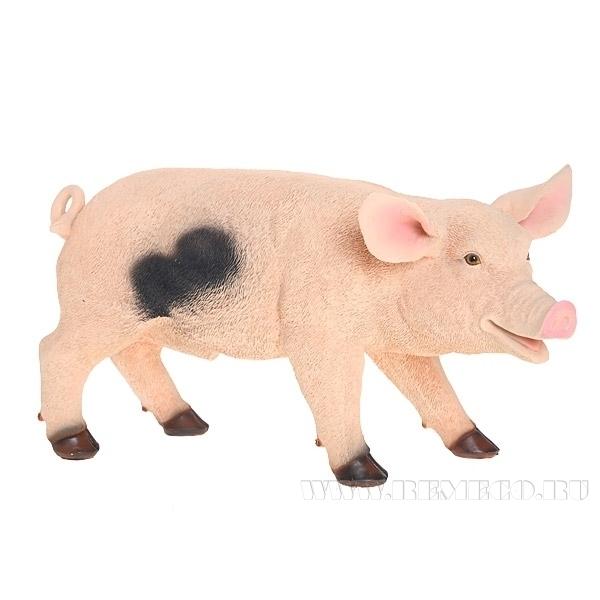 Изделие декоративное Свинка, H 24 см оптом
