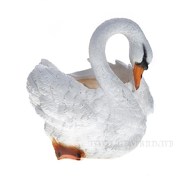 Кашпо декоративное Лебедь , H25 D15 см оптом