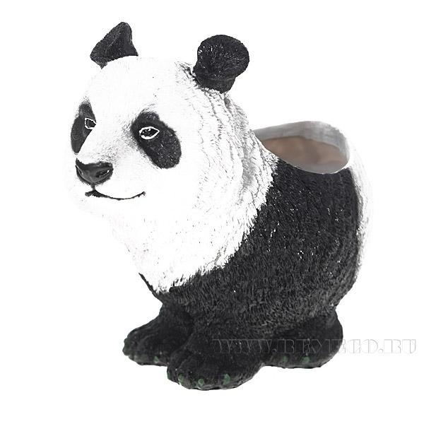 Кашпо декоративное Панда, L8 W22 H20 см оптом