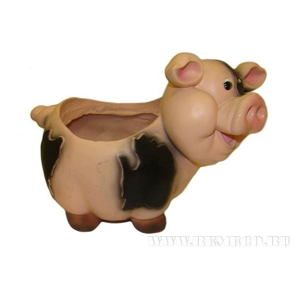 Кашпо декоративное Свинка L24W14H17 см оптом
