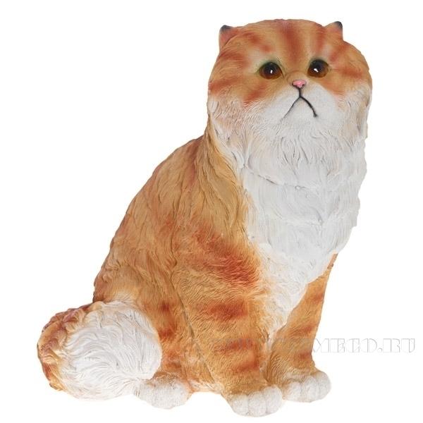 Фигура декоративная садовая Кот персидский сидит №2 L26W24H30 см оптом