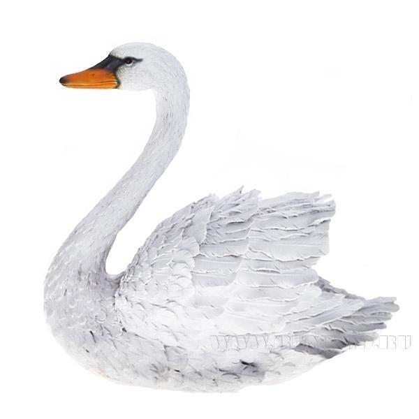 Фигура декоративная садовая Лебедь большой L41W22H38 см оптом