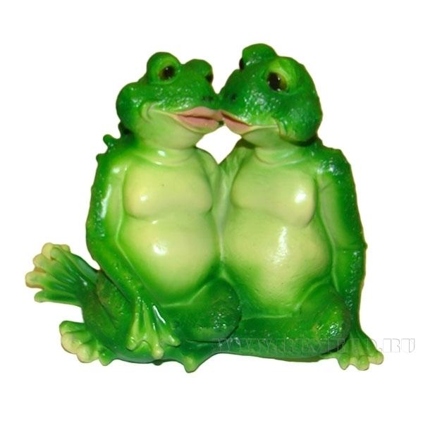 Фигура декоративная садовая Лягушки целуются L22W13H17 см оптом