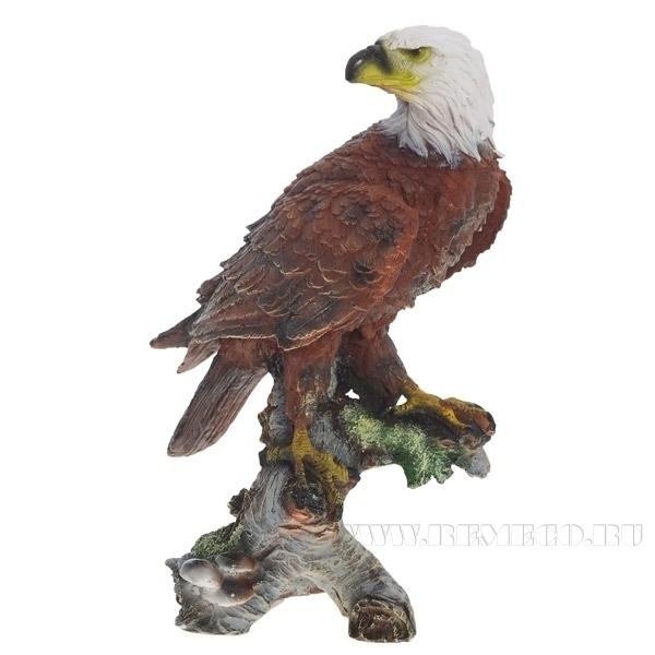 Фигура декоративная садовая Орел на коряге H32 см оптом