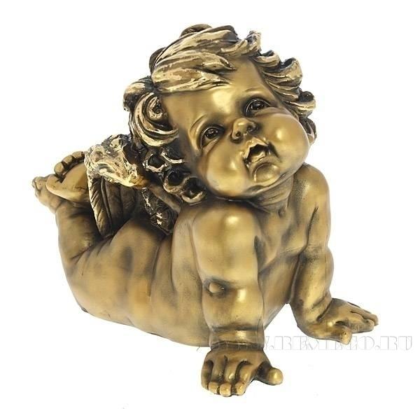 Фигурка декоративная Ангел (сусальное золото), L17W30H24 см оптом