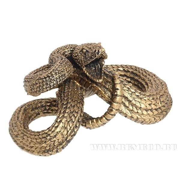 Фигурка декоративная Змея сложилась узлом средняя оптом