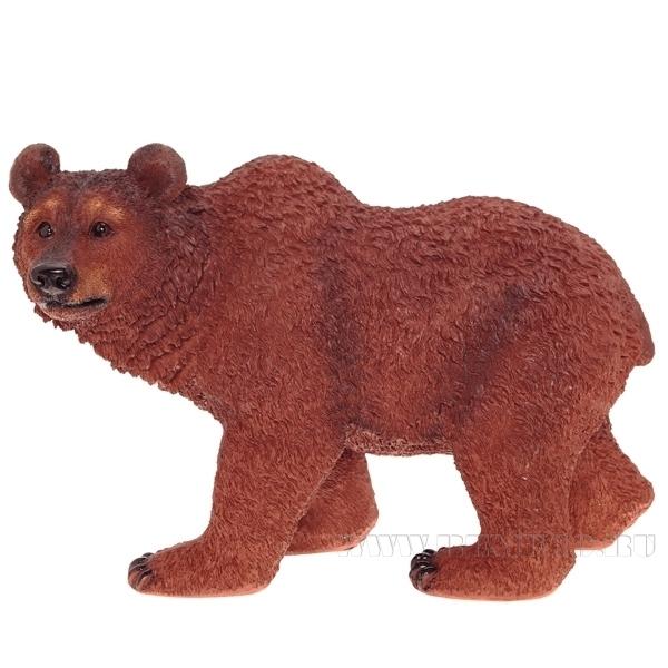 Фигура декоративная садовая Медведь L51W28H31,5 см оптом