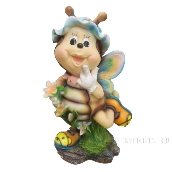 Фигура декоративная садовая Пчела №1 L24W21H54 см оптом