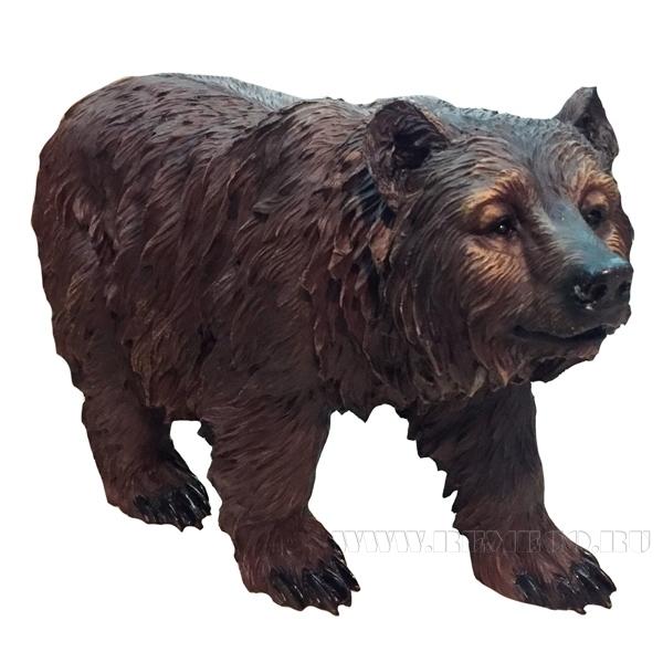 Фигура декоративная садовая Медведь бурый на ногах L60W22H36 см оптом
