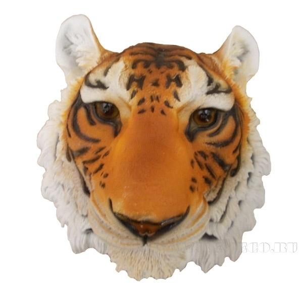 Фигура декоративная садовая Голова тигра навесная L34W35H23.5 см оптом