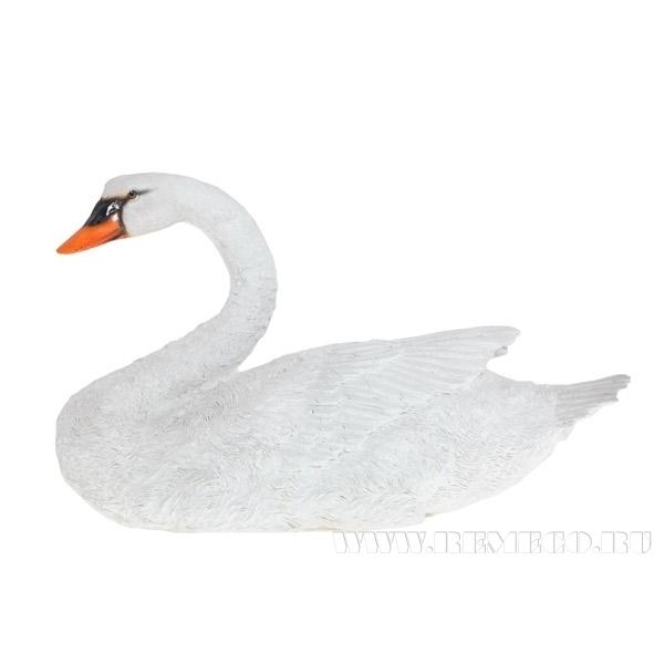 Фигура декоративная садовая Лебедь № 3 L50W18H28 см оптом