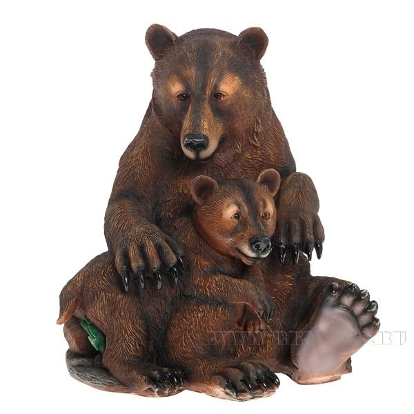 Фигура декоративная садовая Два медведяН50см. оптом