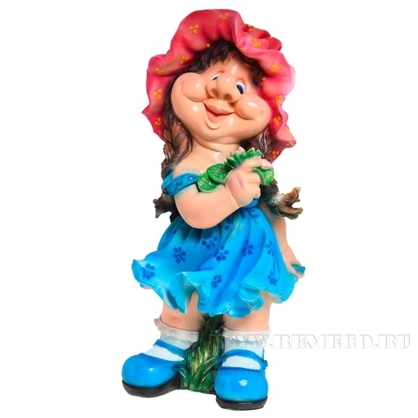 Фигура декоративная садовая Девочка кокетка H 72 см оптом