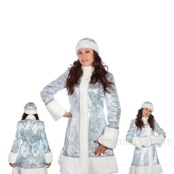 Костюм Снегурочки 2 вида (пальто, шапка, муфта) оптом