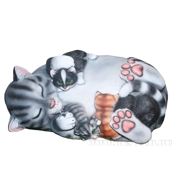 Камень декоративный Кошка Маська , 56х40х29см оптом