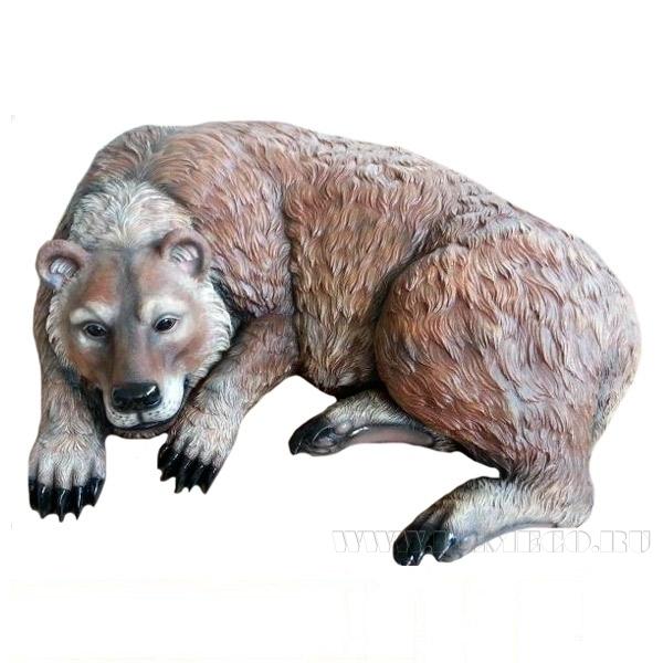 Камень декоративный Спящий медведь, 105х90х26см (блок 2шт.) оптом