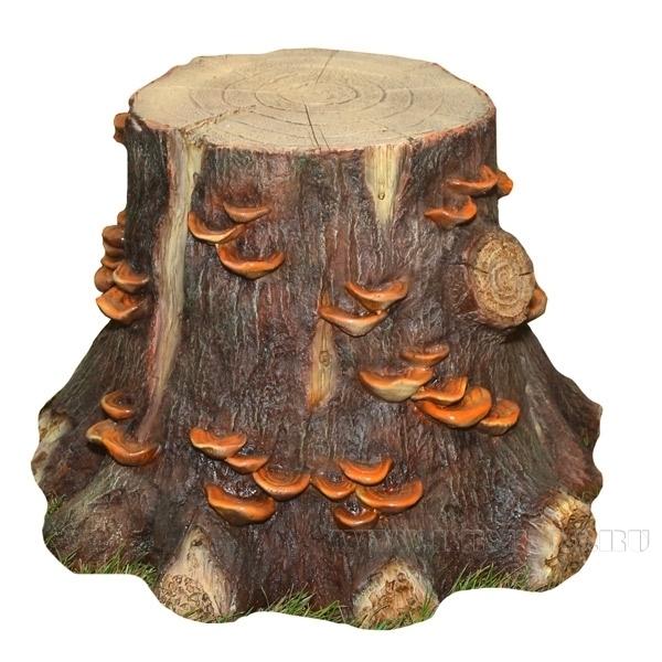Изделие декоративное Пень с грибами средний , 58х56х41см оптом