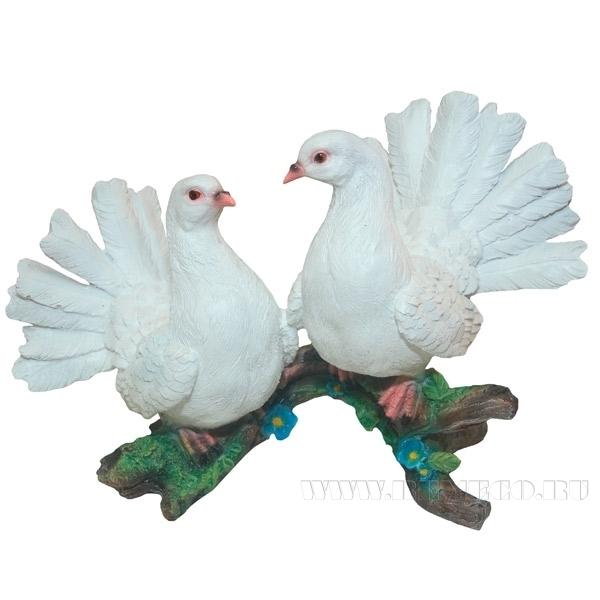 Фигура декоративная садовая Два голубя №2 L38W24H24 см оптом