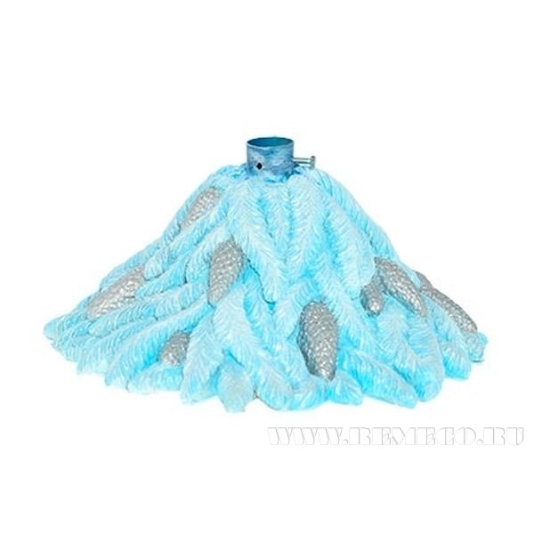 Фигура декоративная (Подставка под елку Хвоя(голубая))D-45 см., H-25 см. оптом