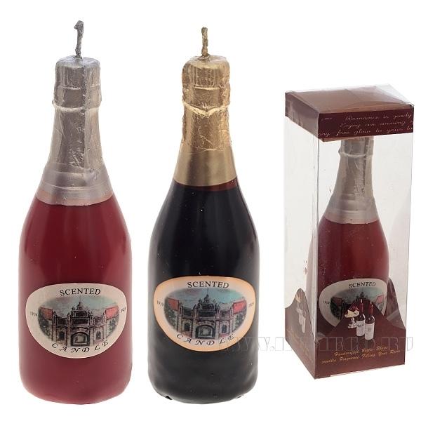 Свеча Бутылка, 5.5х5.5х15.5 см , 2 в. оптом