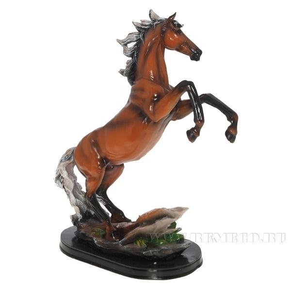 Фигура декоративная Конь (цвет - пегий) L30W15H40см оптом