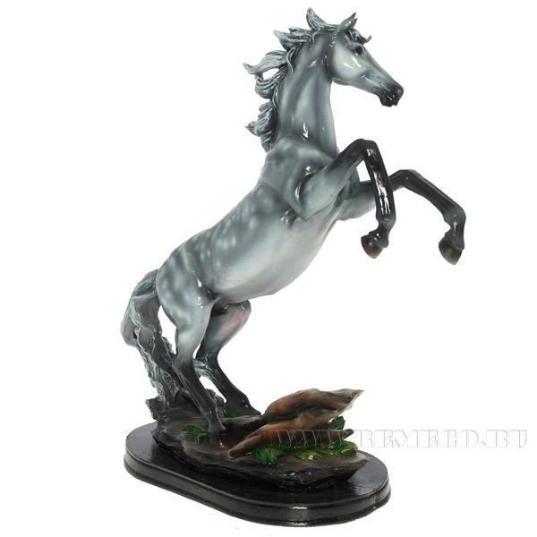 Фигура декоративная Конь (цвет - в яблоках) L30W15H40 см оптом