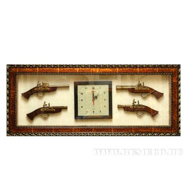Панно Оружие с композицией время, 115х48 см оптом