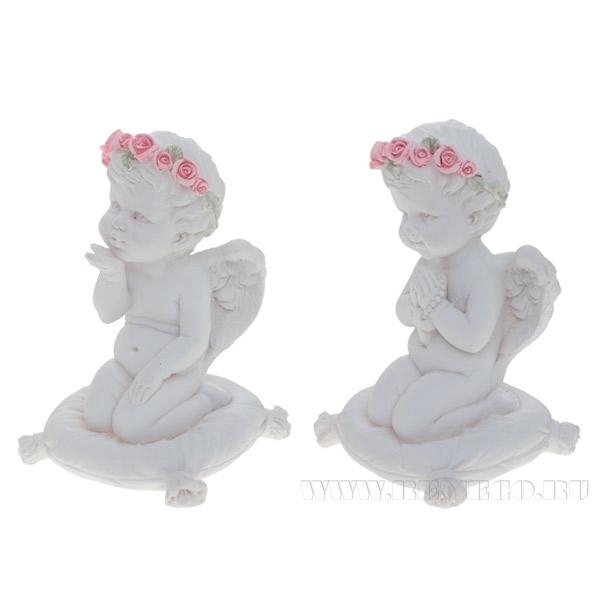 Фигурка декоративная Ангел. Молюсь о тебе, Н 8,8 см, 2 в. оптом