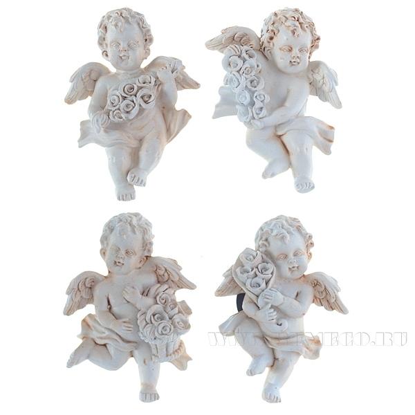 Магнит Ангел с цветами, Н 6 см, 4 в. оптом